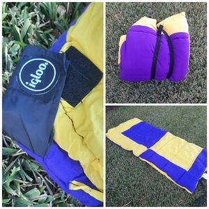 Vintage Igloo American Camper Purple Sleeping Bag